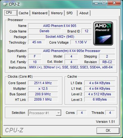 AMD Phenom II X4 905e