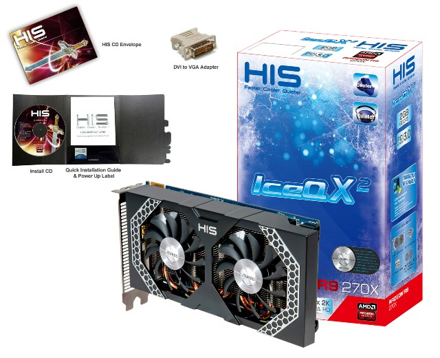 HIS R9 270X Mini IceQ X2 Boost Clock