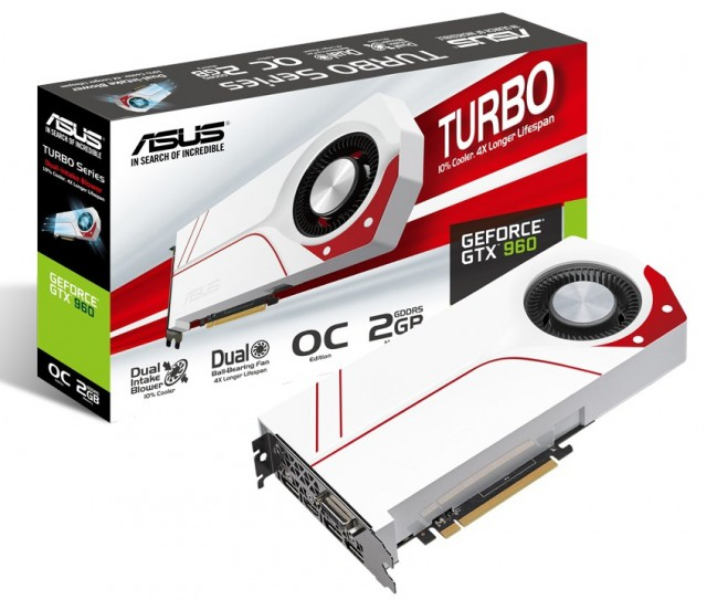 ASUS GeForce GTX 960 TURBO-GTX960-OC-2GD5