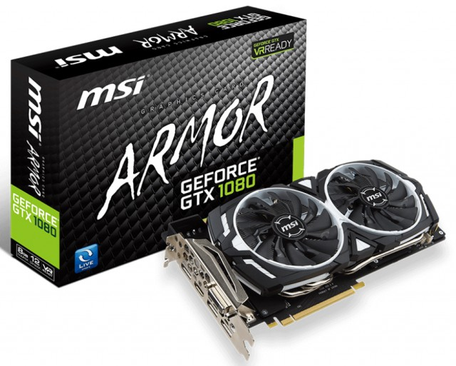 MSI GeForce GTX 1080 ARMOR 8G