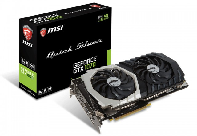 MSI GeForce GTX 1070 Quick Silver 8G