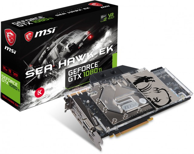 MSI GeForce GTX 1080 Ti Sea Hawk EK X