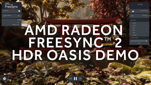 AMD Radeon FreeSync 2 HDR Oasis Demo