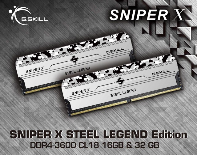 G.SKILL SNIPER X STEEL LEGEND Edition DDR4