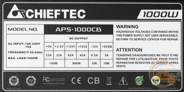 CHIEFTEC APS-1000CB