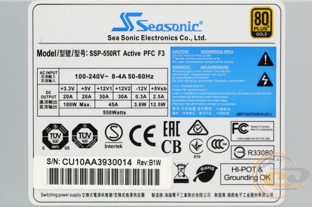 Seasonic SSP-550RT