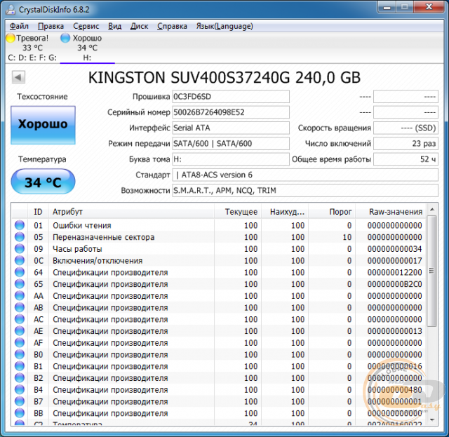 Kingston SSDNow UV400 (SUV400S37/240G)