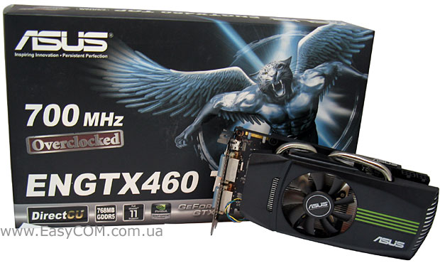 ASUS GeForce GTX 460 DirectCU TOP 768 МБ GDDR5 (ENGTX460 DirectCU TOP/2DI/768MD5)