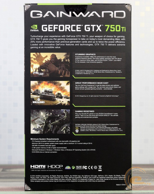 Gainward GeForce GTX 750 Ti 2GB