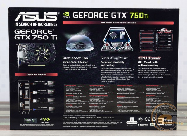 ASUS GeForce GTX 750 Ti (GTX750TI-PH-2GD5)